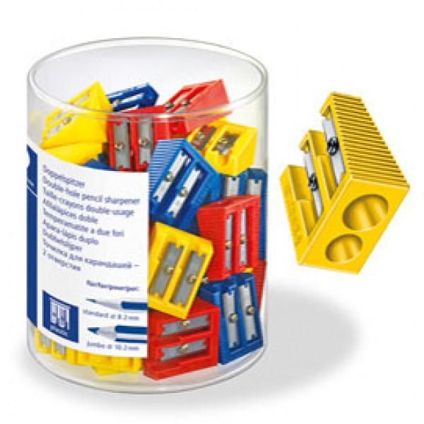 Temperamatite senza contenitore - 2 fori - colorati - Staedtler - conf. 50 pezzi