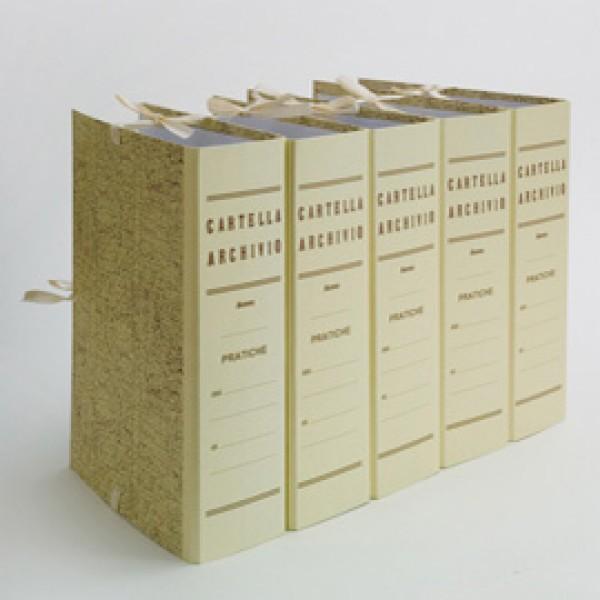 Faldone - legacci incollati - juta - 35x25 cm - dorso 18 cm - paglia - Brefiocart
