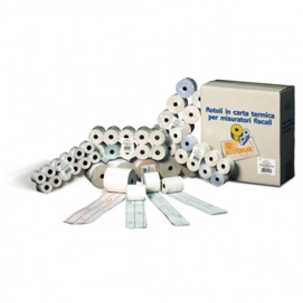 Rotolo per calcolatrici - carta in pura cellulosa - 57 mm x 9 mt - diametro esterno 30 mm - 60 gr - foro 6 mm s/anima - Rotomar