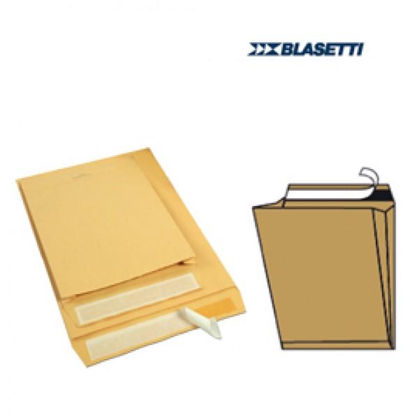 Busta a sacco avana - serie Mailpack - soffietti laterali - fondo preformato - strip adesivo - 230x330x40 mm - 80 gr - Blasetti - conf. 10 pezzi