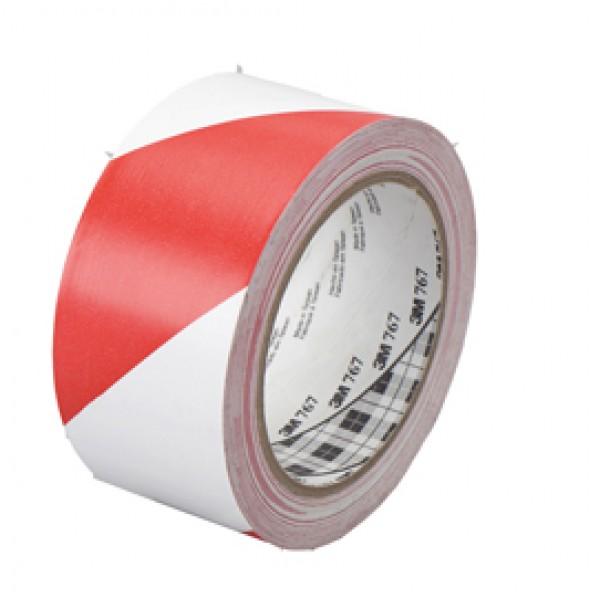 Nastro segnalatore adesivo Scotch® - 50 mm x 33 mt - bianco/rosso