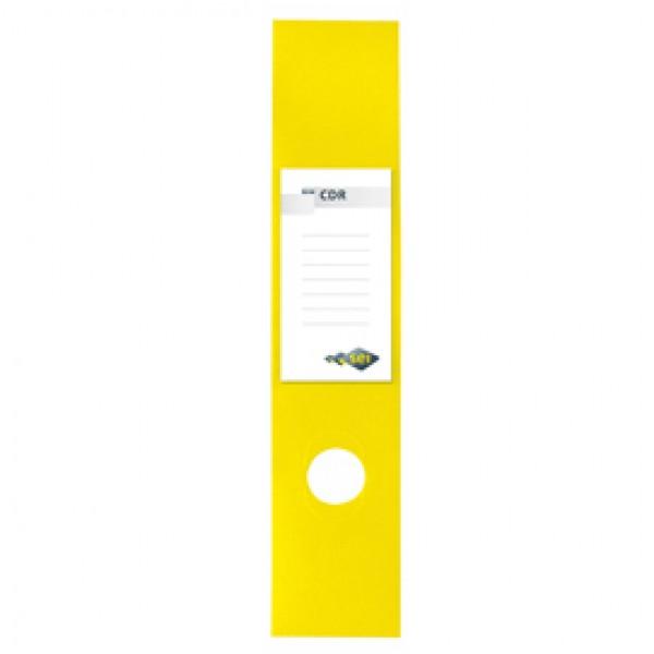Copridorso CDR - PVC adesivo - giallo - 7x34,5 cm - Sei Rota - conf. 10 pezzi