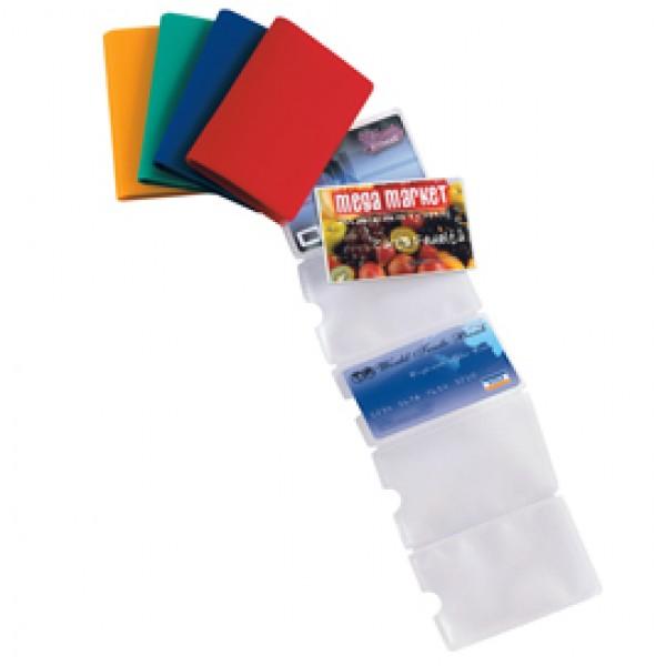 Porta carte di credito Card 6 Color - 6 tasche - 5,8x8,7 cm - colori assortiti - Sei Rota - conf. 5 pezzi