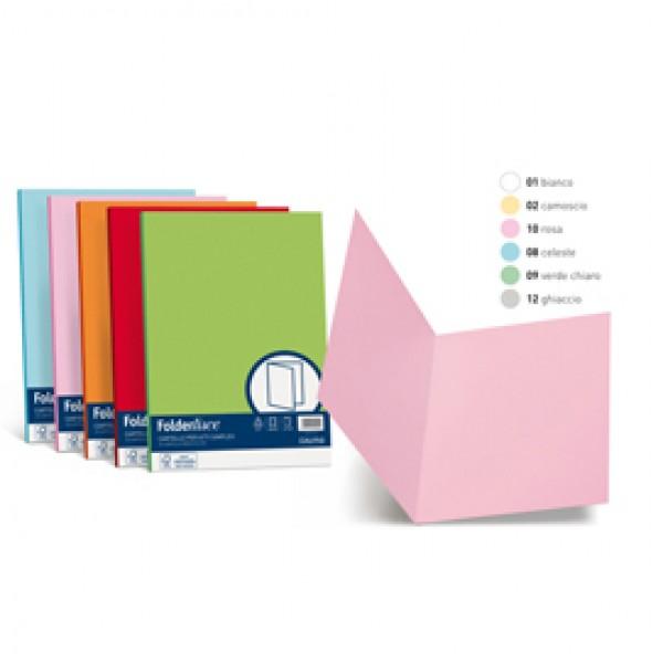 Cartelline in cartoncino Simplex Luce&Acqua Favini - ghiaccio - A50U664 (conf.50)