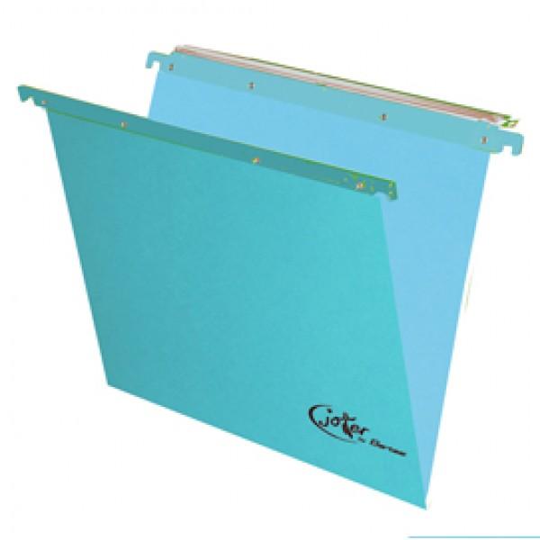 Cartella sospesa Joker - cassetto - interasse 39 cm - fondo V - 37x25 cm - blu - Bertesi