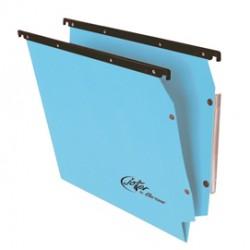 Cartella sospesa Joker - armadio - interasse 33 cm - fondo V - 32,6x28 cm - blu - Bertesi
