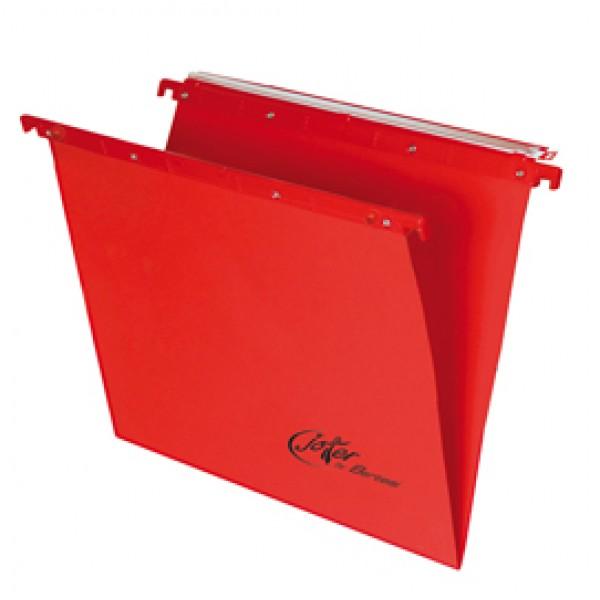 Cartella sospesa Joker - cassetto - interasse 33 cm - fondo V - 31,2x25 cm - rosso - Bertesi