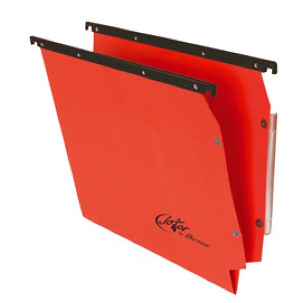 Cartella sospesa Joker - armadio - interasse 33 cm - fondo V - 32,6x28 cm - rosso - Bertesi