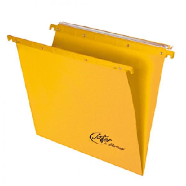 Cartella sospesa Joker - cassetto - interasse 33 cm - fondo V - 31,2x25 cm - giallo - Bertesi