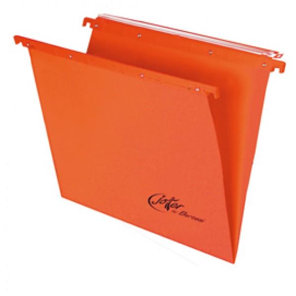 Cartella sospesa Joker - cassetto - interasse 39 cm - fondo V - 37x25 cm - arancio - Bertesi