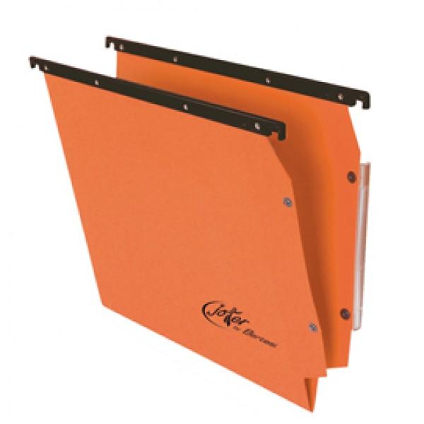 Cartella sospesa Joker - armadio - interasse 33 cm - fondo V - 32,6x28 cm - arancio - Bertesi