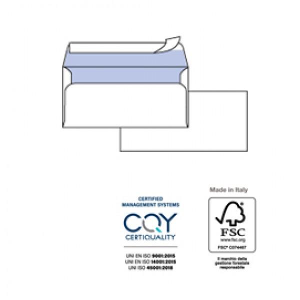 Busta bianca senza finestra - serie Silver Strip - 114x162 mm - 80 gr - Pigna - conf. 25 pezzi