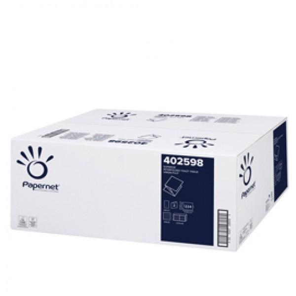 Carta igienica interfogliata - 18 gr - strappo 11x21 cm - Papernet - pacco da 224 strappi