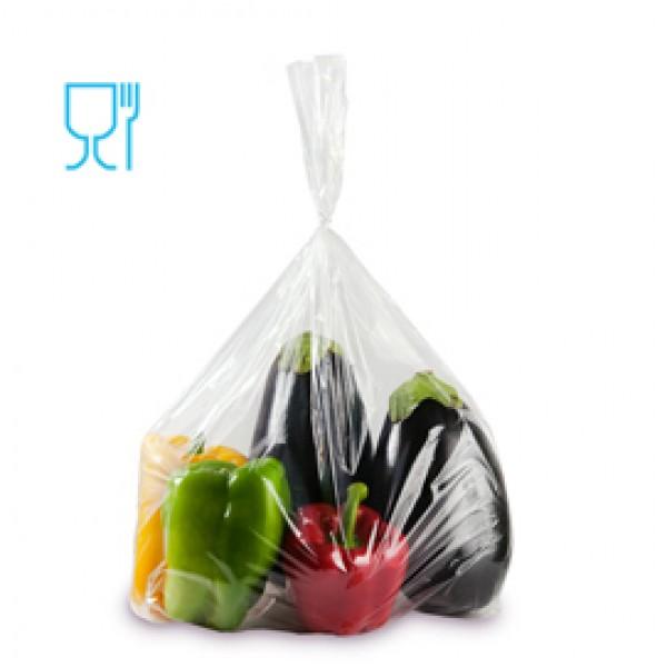 Sacchetti Rex per alimenti - politene - 50x70 cm - 30 micron - trasparente - Gandolfi - conf. 50 pezzi