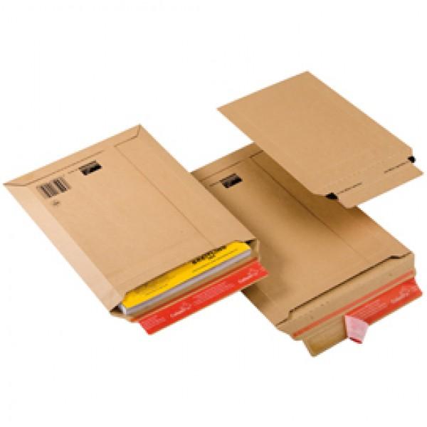 Busta a sacco CP 010 in cartone - adesivo permanente - formato A5 (185x270 mm) - altezza massima 50 mm - ColomPac®