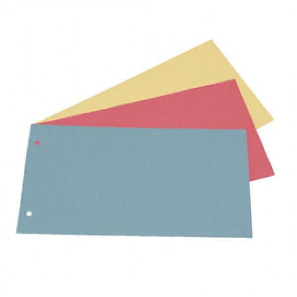 Separatori - cartoncino Manilla 200 gr - 12,5x23 cm - rosso - Cartotecnica del Garda - conf. 200 pezzi