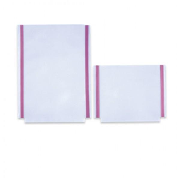 Tasche GS adesive con soffietto - PVC - 22x30 cm - trasparente - Sei Rota - conf. 10 pezzi