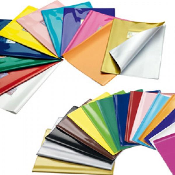 Coprimaxi laccato Colorosa - 21x30cm - PVC - argento - tasca con alette - Ri.plast