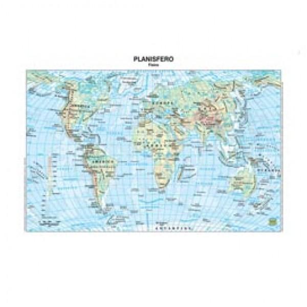 Carta geografica Mondo - scolastica - plastificata - 297x420 mm - Belletti