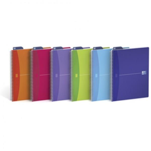 Quaderno spiralato My Colors - 1 rigo con margine - 210 x 297mm - 90gr - 90 fogli - Oxford