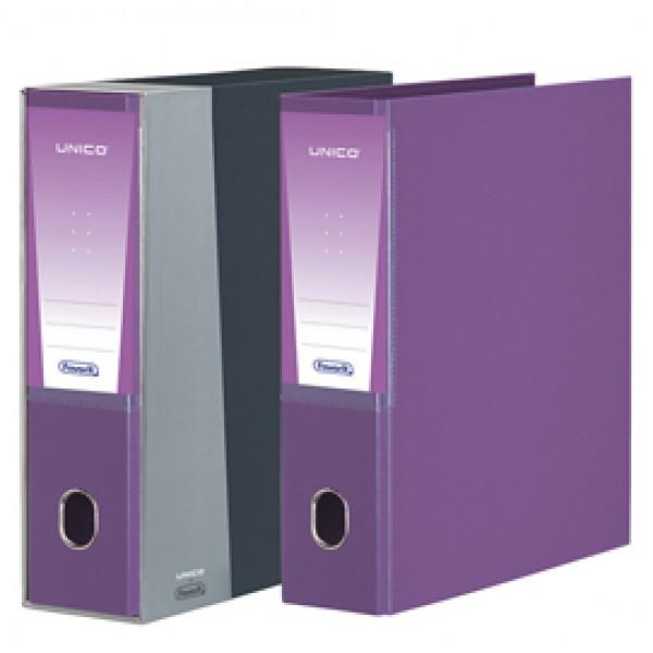 Registratore Unico - dorso 8 cm - protocollo 23x33 cm - viola - Favorit