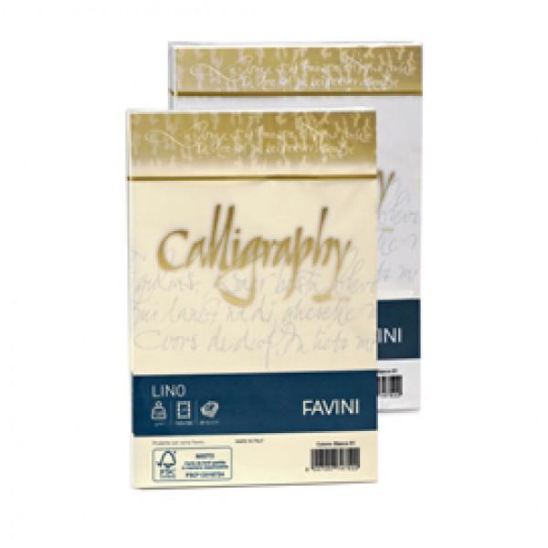Buste effetto lino Calligraphy Favini  avorio - buste - 12x18 cm - 120 gr. A57Q617 (conf.25)
