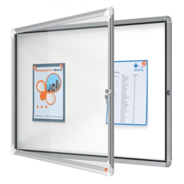 Bacheca per interni - fondo magnetico bianco - 8 fogli A4 - orizzontale - Nobo