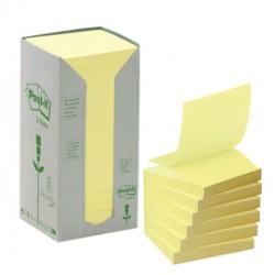 Blocco Post it® Z Notes Green - giallo - 76 x 76mm - 100 fogli - riciclabile 100% - Post it®