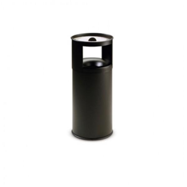 Gettacarte/posacenere autoestinguente - 40 litri - diametro 31cm - altezza 80 cm - nero - StilCasa