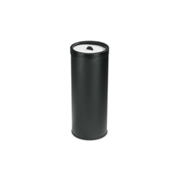 Posacenere con sabbia - 50 litri - diametro 33 cm - altezza 80 cm - nero - StilCasa