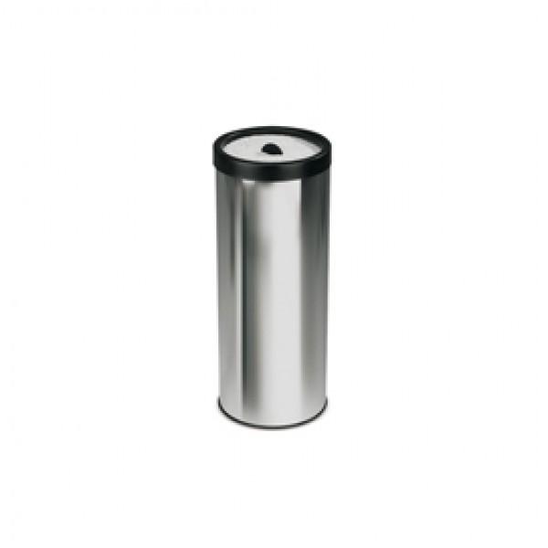 Posacenere con sabbia - 50 litri - diametro 33 cm - altezza 80 cm - inox - StilCasa