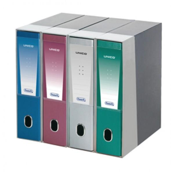 Registratore Unico - dorso 8 cm - protocollo 23x33 cm - blu metallizzato - Favorit