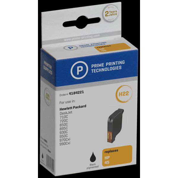 Compatibile Prime Printing per HP 51645GE Cartuccia ml. 42 nero