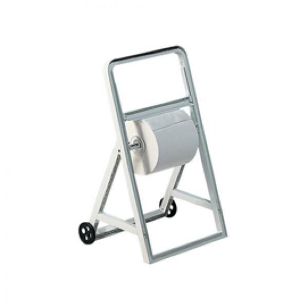 Dispenser a cavalletto con ruote per bobine asciugatutto - ABS - 51,5x47x91 cm - bianco - Mar Plast