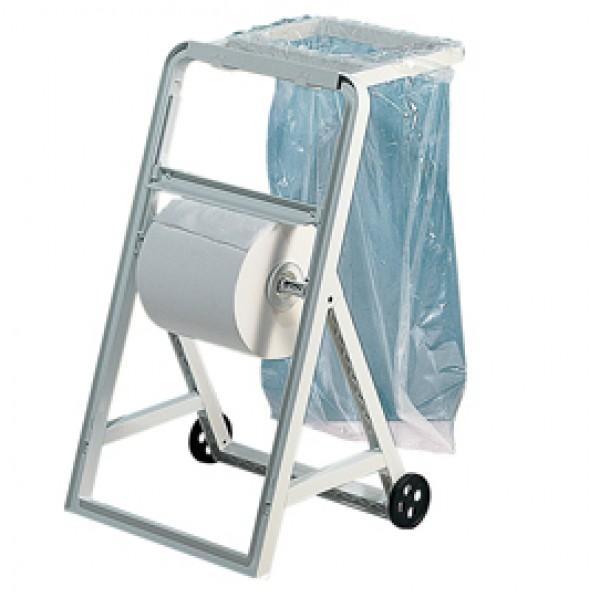 Portasacco per dispenser a cavalletto - ABS - 4,2x35,6x40 cm - bianco - Mar Plast