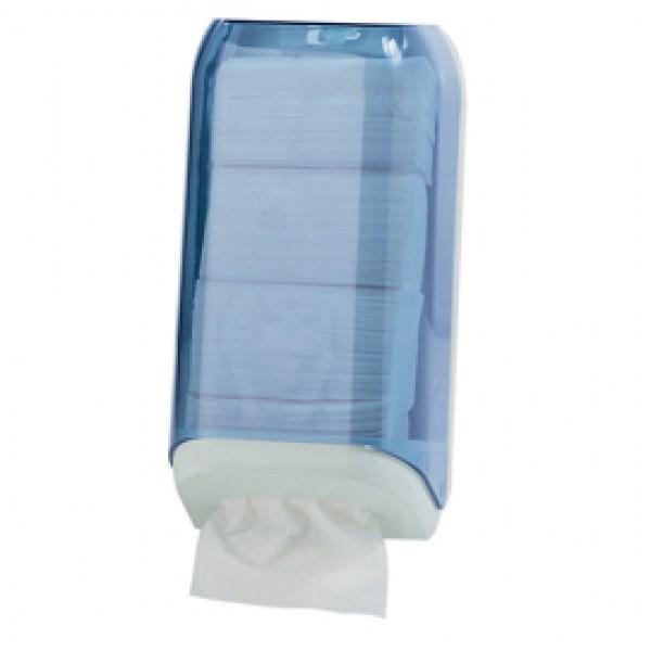 Dispenser di carta igienica in fogli - 15,8x13x30,7 cm - trasparente/bianco - Mar Plast