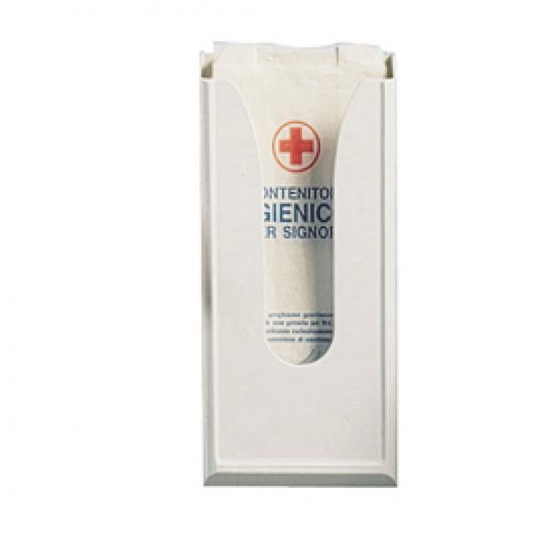 Dispenser per sacchetti igienici - capacità 60 sacchetti - 13,5x5,5x29,5 cm - bianco - Mar Plast