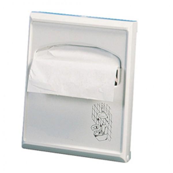 Dispenser per carta copriwater Mini - 23x5,5x29,5 cm - bianco - Mar Plast