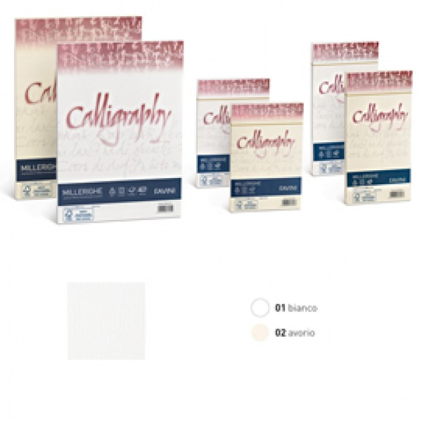 Buste Millerighe Favini Calligraphy 100 gr. cm. 11x22 - avorio - A57Q424 (conf.25)