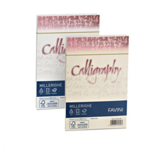Buste Millerighe Rigato Calligraphy Favini - bianco 12x18 cm - 100 gr. A570427 (conf.25)