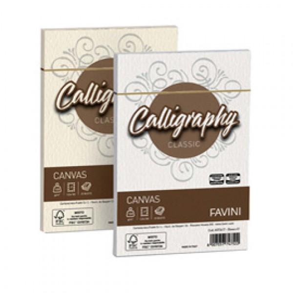 Buste Canvas Calligraphy Ruvido Favini - bianco - 12x18 cm - 100 gr. A570417 (conf.25)