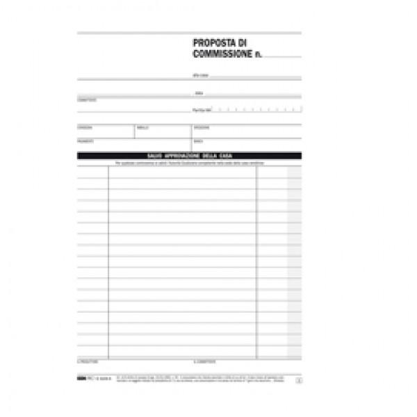 Blocco copia commissione - 50 fogli 2 copie autoricalcanti - 23 x 15cm - Edipro