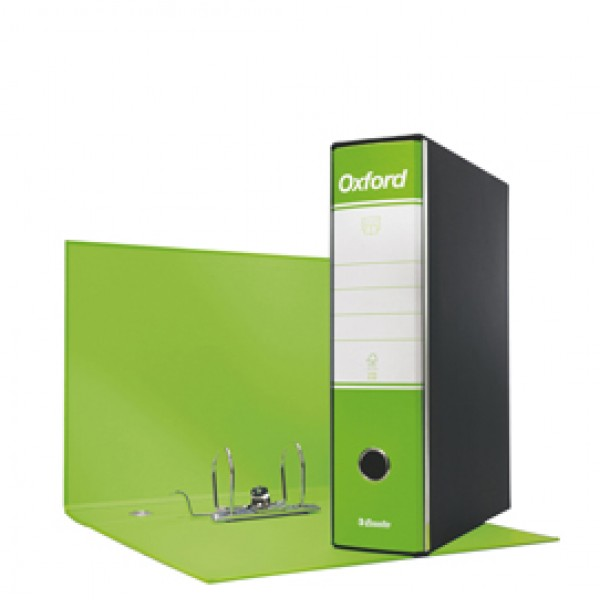 Registratore Oxford G83 - dorso 8 cm - commerciale 23x20 cm - verde lime - Esselte