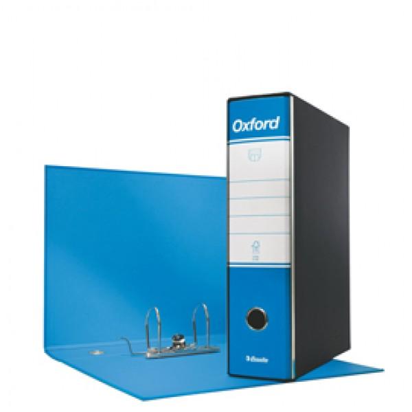 Registratore Oxford G83 - dorso 8 cm - commerciale 23x30 cm - azzurro - Esselte