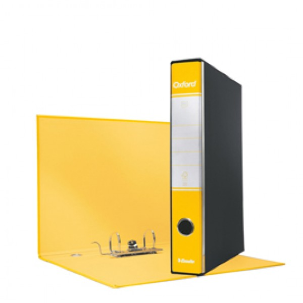 Registratore Oxford G84 - dorso 5 cm - protocollo 23x33 cm - giallo - Esselte