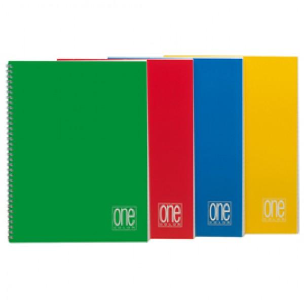 Maxiquaderno One Color - A4 - quadretto 4mm - 60 fogli - 80gr - spiralato - Blasetti