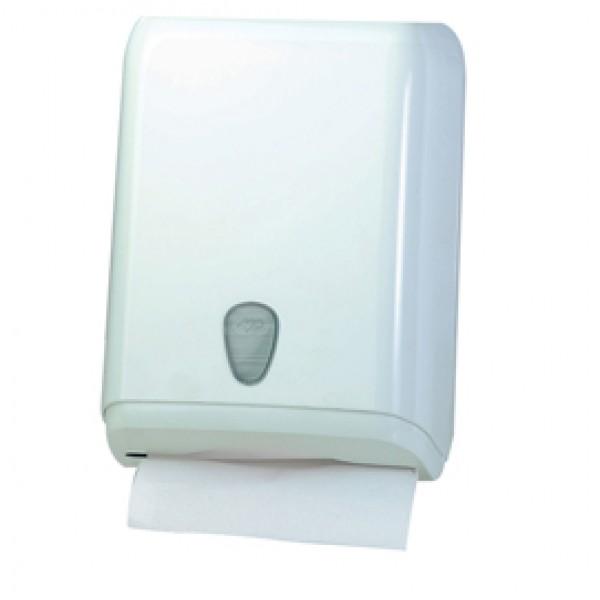 Dispenser asciugamani piegati - 28x13,7x37,5 cm - plastica - bianco - Mar Plast