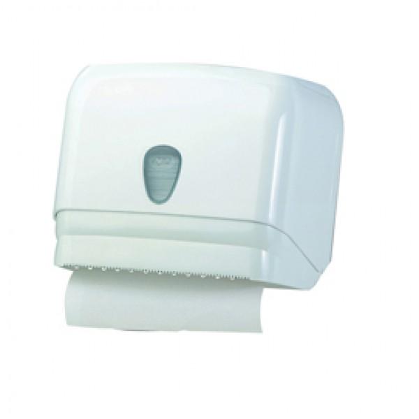Dispenser per asciugamani in rotolo/fogli - 30x19,5x25,1 cm - bianco - Mar Plast