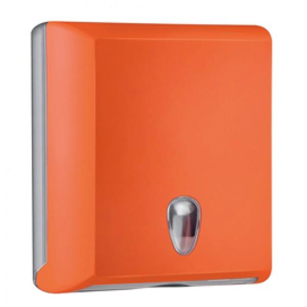 Dispenser asciugamani piegati Soft Touch - 29x10,5x30,5 cm - arancio - Mar Plast