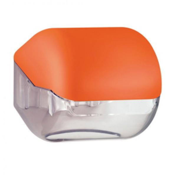 Dispenser Soft Touch di carta igienica - 15x4,8x14 cm - plastica - arancio - Mar Plast